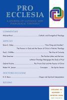Pro Ecclesia Vol 15 N1 PDF