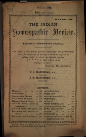 The Indian Homoeopathic Review: Volumes 8-9