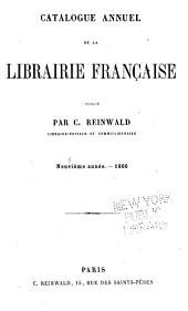 Catalogue annuel de la librairie française: Volume9