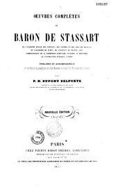 Oeuvres complètes du Baron de Stassart...