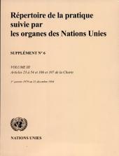 Repertoire De La Pratique Suivie Par Les Organes Des Nations Unies