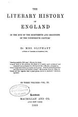 The Literary History of England in the End of the Eighteenth and Beginning of the Nineteenth Century PDF