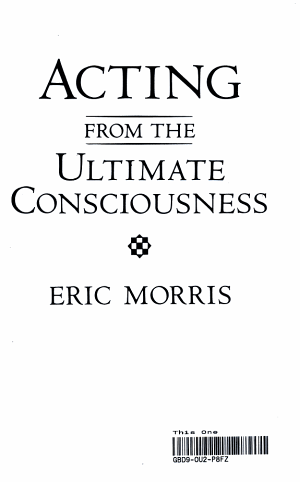 Acting from the Ultimate Consciousness PDF