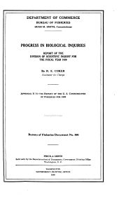 Progress in Biological Inquiries: Report of the Division of Scientific Inquiry for the Fiscal Year 1920-1924, '26-'28, '32, Volumes 895-899