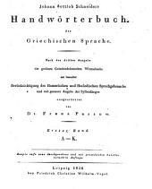 Handwörterbuch der griechischen Sprache: A - K, Band 1