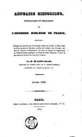 Annuaire historique, généalogique et héraldique de l'ancienne noblesse de France