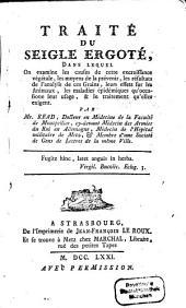 Traité du Seigle ergoté