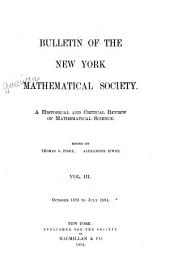 Bulletin of the American Mathematical Society: Volume 3