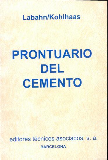 Prontuario del cemento PDF