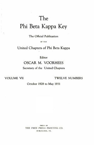 The Phi Beta Kappa Key