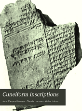 Cuneiform Inscriptions: Chaldean, Babylonian and Assyrian Collections Contained in the Library of J. Pierpont Morgan