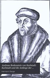 Karlstadt und die Anfänge der Reformation