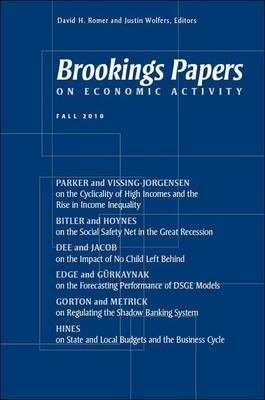 Brookings Papers On Economic Activity Fall 2010