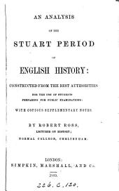 An analysis of the Stuart Period of England History