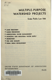 Multiple-purpose Watershed Projects Under Public Law 566