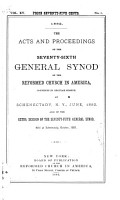 The Acts and Proceedings of the General Synod of the Reformed Church in America PDF