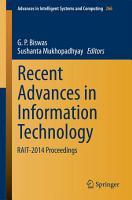 Recent Advances in Information Technology PDF