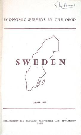 OECD Economic Surveys  Sweden 1962 PDF
