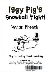 Iggy Pig s Snowball Fight  PDF