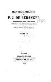 Œuvres complètes de P.J. de Béranger: Volume3