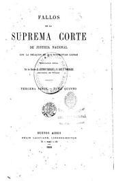 Fallos de la Corte suprema de justicia de la nación: con la relación de sus respectivas causas, Volumen 35