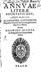 Annuae litterae Societatis Jesu: anni ..