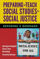 Preparing to Teach Social Studies for Social Justice PDF