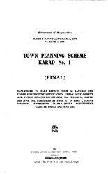 Town Planning Scheme Karad No 1 Final  Book PDF