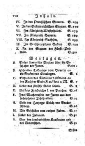 Ueber die ehemahlige und jetztige Lage der Juden in Deutschland: Eine historisch-publicistische Untersuchung