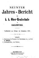 Jahres Bericht der Kaiserlich K  nigliche Oberrealschule in Salzburg PDF