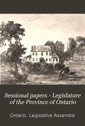Sessional Papers - Legislature of the Province of Ontario: Volume 10
