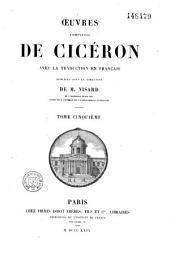 Oeuvres complètes de Cicéron avec la traduction en français