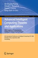 Advanced Intelligent Computing Theories and Applications PDF