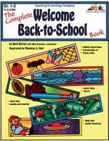 Complete Welcome Back to School Book  ENHANCED eBook  PDF