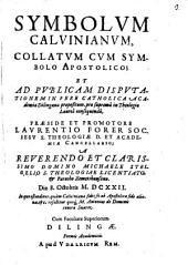 Symbolvm Calvinianvm, Collatvm Cvm Symbolo Apostolico