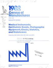 1982 Census of Manufactures: Geographic area series, Volume 2, Issue 38