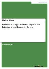 Diskussion einiger zentraler Begriffe der Prinzipien- und Parametertheorie