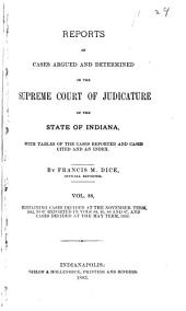Reports of Cases Argued and Determined in the Supreme Court of Judicature of the State of Indiana: Volume 88