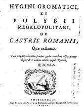 Hyginvs et Polybius de castris romanorum