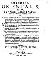 Historia orientalis: ex variis orientalium monumentis collecta