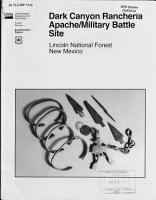 Dark Canyon Rancher  a Apache military Battle Site  Lincoln National Forest  New Mexico PDF