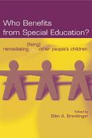 Who Benefits From Special Education  PDF