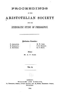 Proceedings of the Aristotelian Society PDF