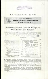 Dormancy and the effect of storage on oats, barley, and sorghum