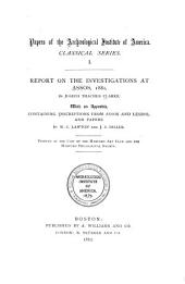 Report on the Investigations at Assos, 1881: Volume 2
