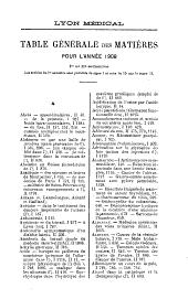 Lyon médical: Volume111,Partie2