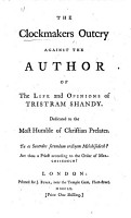 The Clockmakers Outcry Against the Author of The Life and Opinions of Tristram Shandy PDF