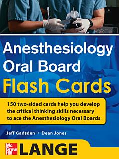 Anesthesiology Oral Board Flash Cards Book