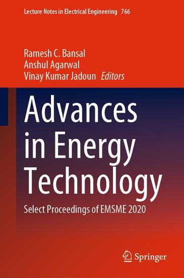 Advances in Energy Technology PDF