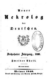 Neuer nekrolog der Deutschen...: Teil 2